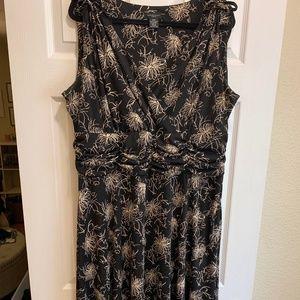Floral Tie Sleeve Dress